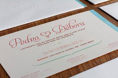 Convites de casamento com amor e personalidade: 8 fornecedores de Minas Gerais