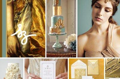 Una boda llena de brillos y encanto en color dorado... ¡Un deleite!