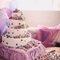 Torta de bodas con pastillaje.  Foto: Trowfotographie & Feestudio.