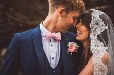 Il matrimonio di John e Lorna tra un boccale di birra e tocchi di glamour