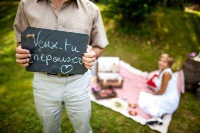 Demande en mariage originale, romantique et scénarisée