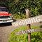 Camioneta vieja para auto de boda en un rancho