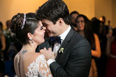 Casamento clássico de Cristina & João no IATE club do Rio: noiva deslumbrante, festa animadíssima!