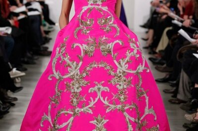 Invitée à un mariage cette année, misez sur les robes de soirée Oscar de la Renta 2013