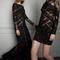 Vestidos de fiesta 2014 glam en color negro para una boda de noche