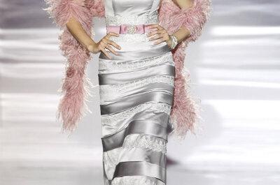 Selección de vestidos de fiesta metalizados 2013