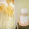 Pastel de boda con temática de color