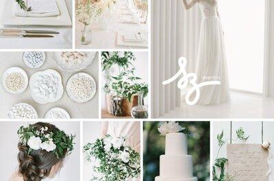 Blanco que brinda pureza: Una decoración de boda que irradiará luz y magia natural