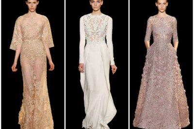 Elie Saab Haute Couture 2013, la donna più glamour non indossa un abito da sposa!