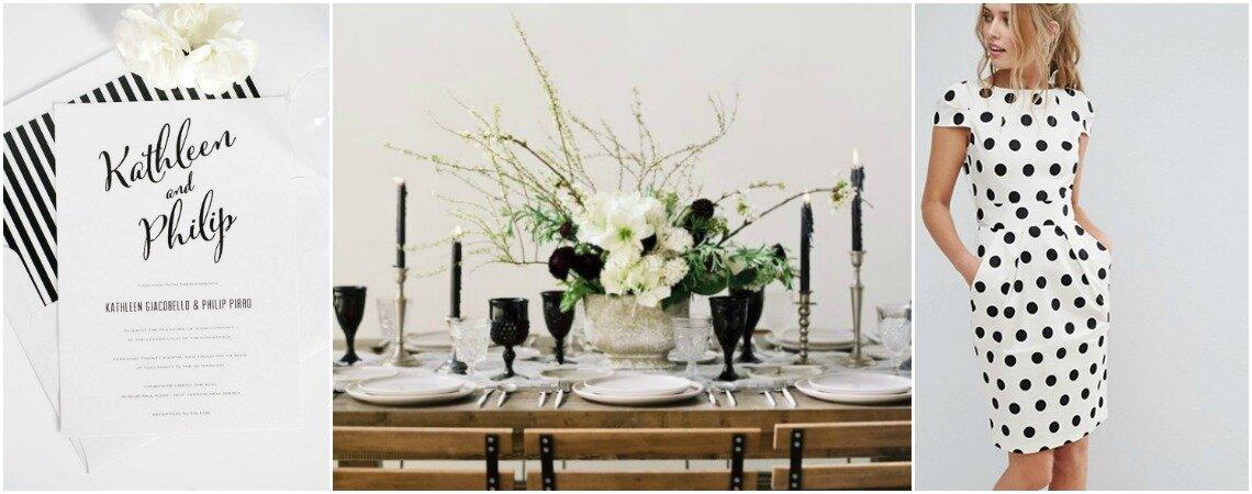 Una boda en blanco y negro: Lo más sofisticado
