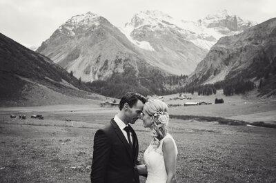 Unvergessliche Hochzeit in Graubünden: Barbara & Mario genossen eine Feier nahe der Berge!
