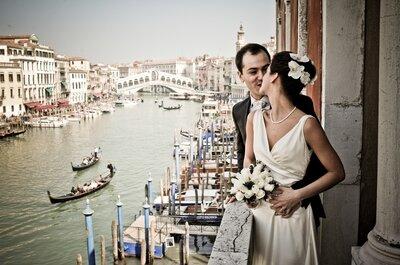 10 Location per matrimoni a Venezia: alla scoperta della città dei Dogi tra storia e glamour