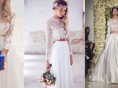 Vestidos de noiva com cropped tops, a tendência mais trendy para 2016
