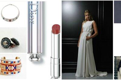 Look pour une mariée ethnique : 1 robe sobre pour 10 accessoires pétillants !