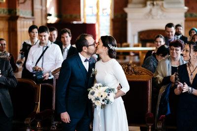 Découvrez le mariage de Sandra et Vincent : un savant mélange d'élégance et de sobriété pour un Jour J tout en beauté !