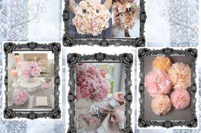 Flores de color rosa: un toque muy femenino para tu boda