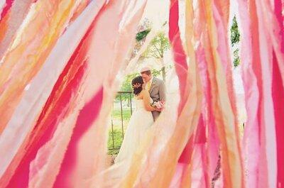 Décoration de mariage 2013 rose fuchsia et dorée