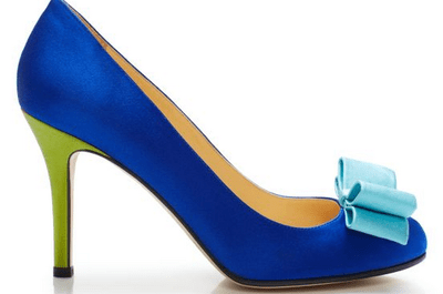 Zapatos de novia en color azul de Kate Spade