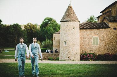 Anthony + Sébastien : leur adorable mariage dans une demeure médiévale en Rhône-Alpes