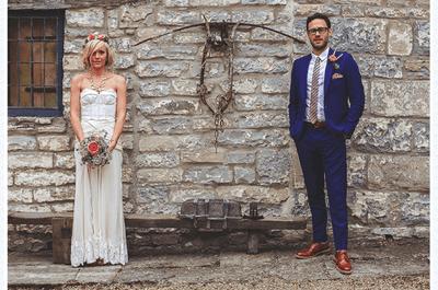 Real Wedding: Boda de Bella y Will estilo vintage chic con detalles rústicos