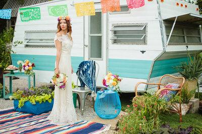La inspiración perfecta para una boda mexicana con toques bohemios