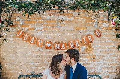 Banderas en tu boda: ¡Una decoración festiva y fuera de lo común!