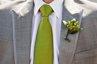 La corbata del novio: un complemento imprescindible