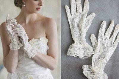 Luvas com vestido de noiva, sim ou não?