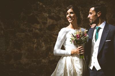 Un castillo, el escenario perfecto para esta preciosa historia: la boda de Audrey y Nacho