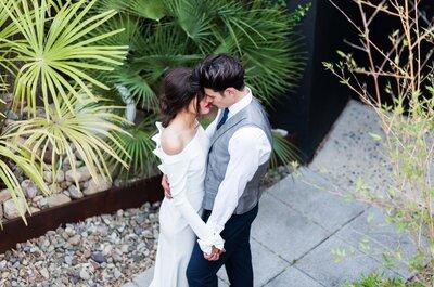 Granate, blanco y verde: los colores que le darán a tu boda un sabor diferente