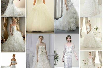 Los 10 vestidos de novia para 2013 de acuerdo con los editores de Zankyou