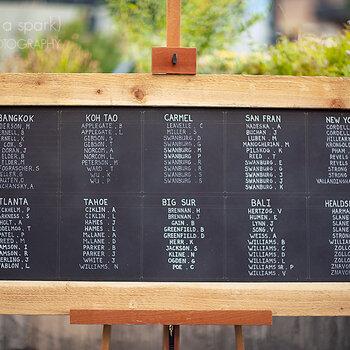 Lindas ideias para indicar aos convidados o lugar marcado no casamento