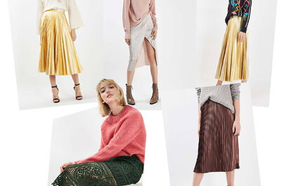 Falda maxi + cardigan para invitadas, una tendencia que arrasa