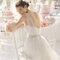 Hochzeits-Kleid: Brautkleid mit schottischem Ausschnitt aus Tüll und Gürtel