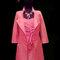 Robe corail en faille avec manteau par Catherine Varnier