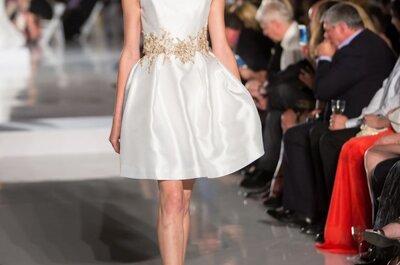 Vestidos de novia cortos de moda para 2014
