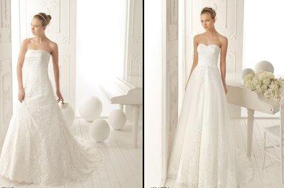 Vestidos de novia clásicos y sencillos: colección de novias Aire,Barcelona 2013