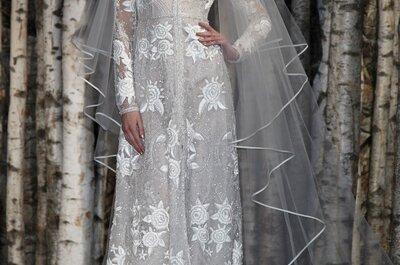 Vestidos de noiva elegantes e estilosos de Naeem Khan 2015 diretamente da semana de moda de Nova Iorque