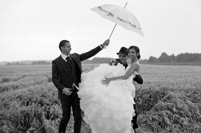 Pluie ou mauvais temps le jour du mariage : on ne s'affole pas !