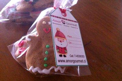 Galletas de Navidad como recuerdos de matrimonio