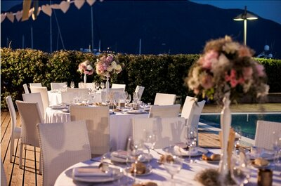Swimming pool party: un matrimonio elegante e 'marine' allo Yacht Club Marina di Stabia