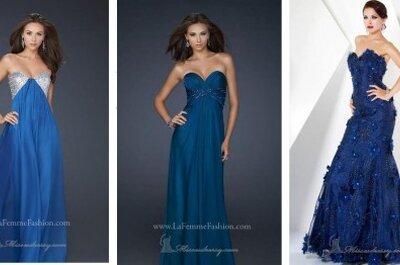 Vestidos de fiesta en color azul