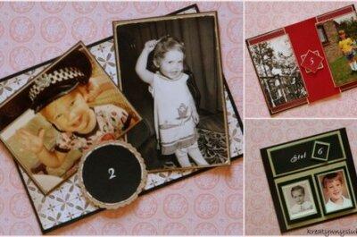 Numeracja stołów ze zdjęciami z dzieciństwa DIY