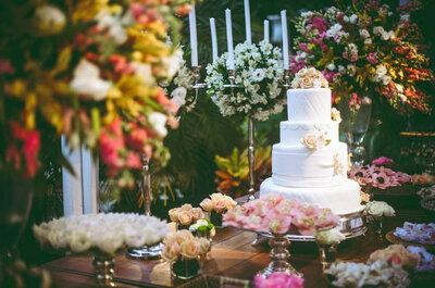 Bolos de casamento encantadores para as noivas mais românticas