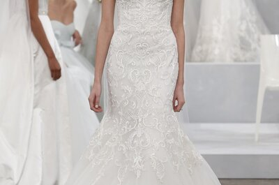 Monique Lhuillier 2015  - New York Bridal Week: Vestidos de noiva de obra de arte