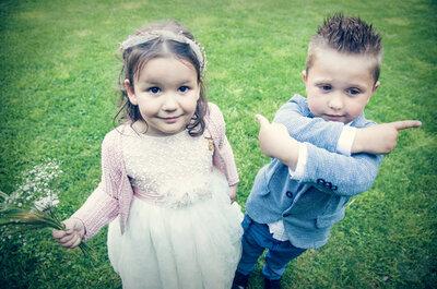 Los momentos más adorables de los niños en las bodas: ellos no entienden de protocolo