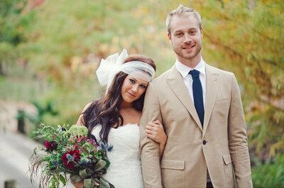 Real Weddings: La boda bohemia romántica de Lindsey + Andrew