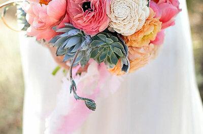 Der Brautstrauß in zarten Pastelltönen