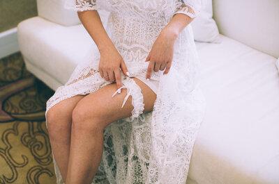 La giarrettiera: accessorio sposa tra sensualità e tradizione