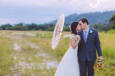 Fernanda & Leonardo: casamento lindo ao ar livre em plena primavera